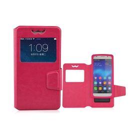 Мобильные телефоны онлайн-Univesal Luxury Filp Смартфон Задняя Крышка С Видом Окна Кожа PU Красочные Чехлы для Телефона Кожи Для Iphone Samsung Galaxy Huawei Xiaomi