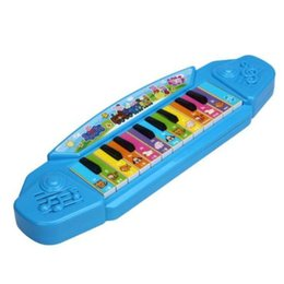 Wholesale Music Piano Toys - Baby Kids Musical Educational Animal Farm Piano Developmental Music Toy Kid Gift Colour:Blue