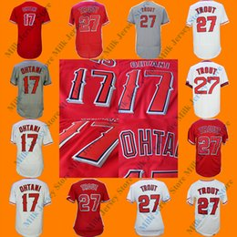 Wholesale Women Army Shorts - Men's Women Youth #17 Shohei Ohtani #27 Mike Trout Los Angeles Baseball Jersey Red Gray White