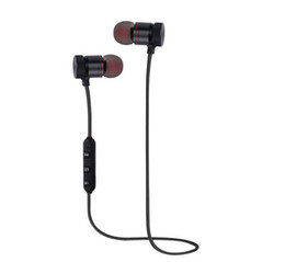 Cuffia avricolare bluetooth senza fili di sport rosso online-M9 Magnete Cuffie Bluetooth senza fili Cuffie auricolari vivavoce per musica sportiva con scatola al minuto rosso nero per scegliere