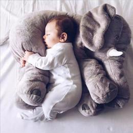 Wholesale Long Cushion Plush - Elephant Pillow Chair Pet Para Bebe Napper Lumbar Long Nose Child Baby Animal Plush Soft Elephant Cushion Baby Blue Red Pink