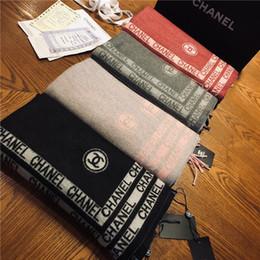 foulards double face Promotion 18AW marque de luxe CHA hiver écharpe pour femmes  marque Designer hommes b59cd185276