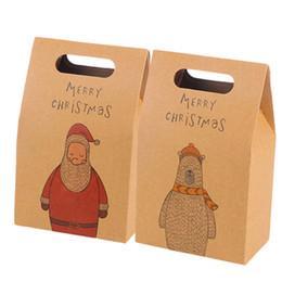 Heiratsbeutel online-Weihnachtspapiergeschenk sackt Retro Elch-Muster-Weihnachtsmann-Verpackungsparty-Hochzeits-Ehe-Süßigkeits-Plätzchen-Verpackentaschen ein
