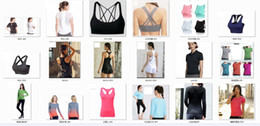Wholesale mix t shirts - 2018 brand Yoga T-shirts Tops Apparel Fitness Tanks Bra Sports coat Gym Breathable Women female sportswear jogging underwear Quick Dry