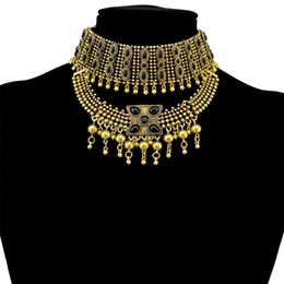 Wholesale Chunky Costume Jewelry - whole saleRetro Boho Tribal Tassel Collar Bib Necklace Collar Necklaces & Pendants Costume Statement Necklace Chunky Necklaces Jewelry