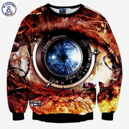 Wholesale Red Machinery - Hip Hop Hoodie Hot sale Fashion sweatshirts 3d print machinery watch Men Women's creative big eyes casual hoodies lovely pullover