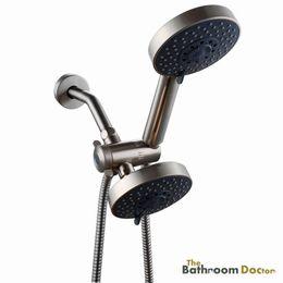 Wholesale Wall Mounted Handheld Shower Set - Bathroom 5 Setting Shower Head Double Handheld Shower Head & 3 ways Diverter Valve combo 03-203