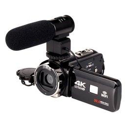 2019 ir цифровая видеокамера 2018 WIFI 4K видеокамера 16X zoom 3.0 HD сенсорный экран 24 мегапикселей с ИК-инфракрасной цифровой видеокамерой скидка ir цифровая видеокамера