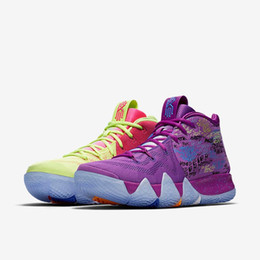 Wholesale Best Brands Basketball Shoes - (WITH BOX)BEST BRAND KYRIE IRVING 4 CONFETTI MULTICOLOR MEN BASKETBALL SHOES RUNNING SHOES FOR SALE NEW IRVING 4S OUTDOORS SPORTS SNEAKERS
