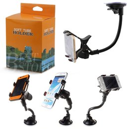 Wholesale Mobile Cup - Car Mount Long Arm Universal Windshield Dashboard Mobile Phone Car Holder 360 Degree Rotation with Strong Suction Cup