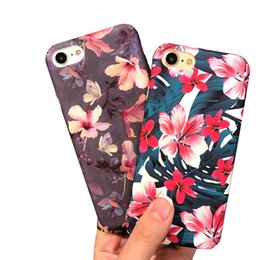 Canada Cas de téléphone portable de luxe pour Apple iPhone 6 6s 6 plus 7 7plus Fleurs Téléphone Protection Matte dur Shell couverture arrière livraison gratuite supplier ship covers for cell phones Offre