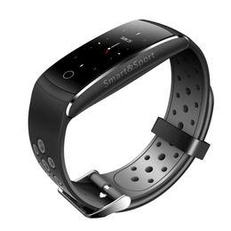 2019 pulsera inteligente deportes android Pulsera inteligente de la pantalla a color que mide el podómetro del ritmo cardíaco Reloj resistente al desgaste resistente al agua de los deportes para Android IOS rebajas pulsera inteligente deportes android