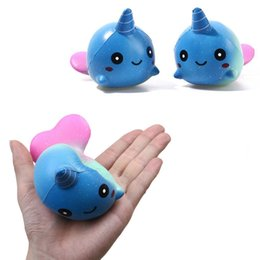 Wholesale Big Whales - Hot Sell 10cm Unicorn Galaxy Whales Squishy Toys for Kids slow rising Finger Doll Toy Charm Stretchy Animal Healing Stress Paste