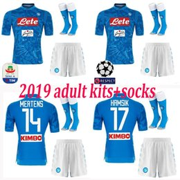2019 Napoli adult Soccer Jersey CALLEJON home INSIGNE HAMSIK KOULIBALY 2018  2019 CHAMPIONS LEAGUE Naples MERTENS kit socks football SHIRTS b0a3a8364