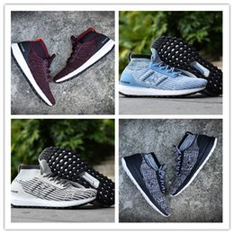 Wholesale Mens Energy - New Ultra Boost ATR Mid Trace Khaki CG3001 Running Shoes Real Boost Endiess Energy Sneakers for Mens 4 Colors Oreo MID Boots Ultraboost