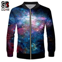 OGKB Hombre Zip куртка новый с длинным рукавом 3D печати звездное небо смешно негабаритных одежды человек осень куртка дропшиппинг 2018 supplier sky long jacket от Поставщики куртка с длинным рукавом