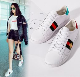 Wholesale Ladies Open Shoes - 2018 New small white shoes spring and summer new lady small bee casual shoes shoes