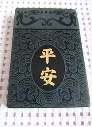 Wholesale hotan jade - China's xinjiang hotan jade bas-relief Long Pingan pendant with free shipping B3