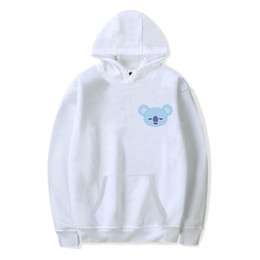 Wholesale Cartoon Hoodie - BTS Love Yourself BTS Hoodies Sweatshirts K-pop Bangtan Women Cartoon Hoodie Sweatshirt Mens Kpop Popular Idol Clothes