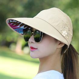 casquette de tête de plage Promotion 1 PCS Femmes D'été Sun Chapeaux Chapeau De Plage Packable Sun Hat Avec Grandes Têtes Plage Larges UV Protection Cap Femelle