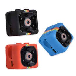 Wholesale Video Card Support - Newest SQ11 Mini Camera HD 1080P Night Vision Camcorder Car DVR Infrared Video Recorder Sport Digital Cameras Support TF Card DV Cam