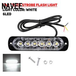 2019 luces indicadoras de advertencia Luz de advertencia externa del coche 6LED 18W 18Mode Coche Camión estroboscópico Flash Indicador de seguridad de emergencia Luz luces indicadoras de advertencia baratos