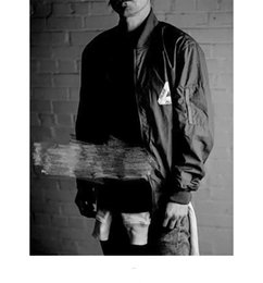 Wholesale Mens Casual Spring Jackets - Mens Bomber Jacket Insignia Palace Hip Hop Sport Male Windbreaker Jacket Flag Mens Spring Thin section Jacket