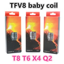 Wholesale Core Engines - 30PCS TFV8 Baby Coil Head Replacment T8 X4 T6 Q2 M2 0.15ohm 0.25ohm Beast Engine Core For TFV8 BABY Beast Tank