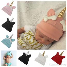 0a1f8cd5fa01e Unicorn Baby Hats Newborn Bowknot Caps Kids Winter Crochet Knit Hat Child  Christmas Fashion Hats Infant Cartoon Beanie Birthday Gifts LD29