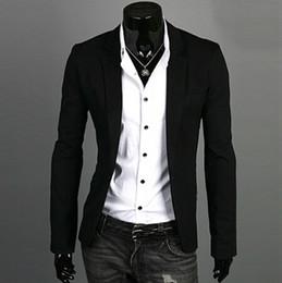 Blazer hombres 2018 Nueva Llegada Ropa de moda Salvaje Solo botón terno  traje Chaqueta de los hombres Casual Slim Fit Suit blazer masculino  apretado baratos 57f16dd786f
