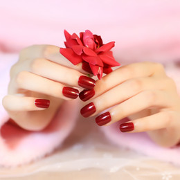 Nail Care, Manicure & Pedicure Official Website 20 False Nails Full Cover Oval Tips Cute Bride Heart Red Health & Beauty