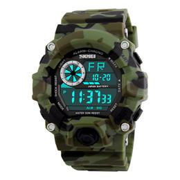 Wholesale Men S Sport Clock - Wholesale-SKMEI Army Camouflage led military wrist watches men relojes digital sports watches relogio masculino esportivo s shock clock