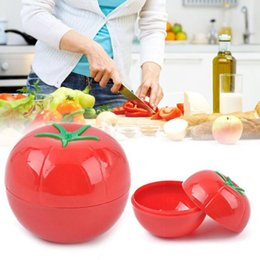 Wholesale Storage Box Seal - Tomato Saver Plastic Container Holder Bulb Shaped Fresh and Moist Storage Food Container Tea Candy Box Sealed Cans OOA4265