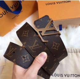 Argentina 2018 Hot Belt Cinturones de diseño de marca de lujo para hombres Negro Correa con hebilla de cuero genuino de alta calidad para pantalones vaqueros con caja cheap xl belts for buckles black Suministro