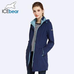 bonés das mulheres da trincheira Desconto 2018 Mulheres Casaco de Alta Qualidade Outono E Primavera Longo Trench Coat Para As Mulheres Blusão Chapéu Destacável