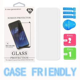 ajuste protector de pantalla Rebajas Protector de pantalla 3D Protector de vidrio para Samsung Galaxy S8 S9 Plus 9H Vidrio templado HD Cubierta completa curvada 100% en la caja del teléfono