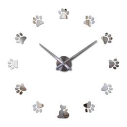 Argentina Creativo real Diy acrílico espejo reloj de pared reloj de cuarzo bodegón aguja relojes grandes sala de estar moderna decoración del hogar pegatinas Suministro