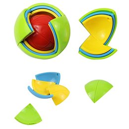 Wholesale Brain Teaser Ball Puzzle - Reducing Pressure 3D Intellect Puzzle Maze Ball Brain Teaser Game Educations For Kids IQ Training Logical Puzzle Children Toy Retail Package