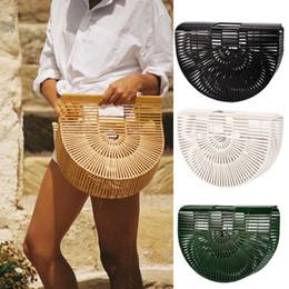 Wholesale shaped clutch - Brand Designer Fashion Womens Retro Bamboo Handbag Lady Large Tote Bags Shoulder Bag Cult Gaia 3 Colour Small