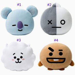 Wholesale van wholesalers - 8 Style 30-40cm Kpop BTS BT21 Plush Dolls Bangtan Boys Van JUNG KOOK Jimin Plush Cushion stuffed Toy TATA COOKY CHIMMY SHOOKY B