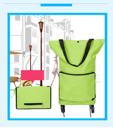 Wholesale Portable Shopping Trolley - Fashion Simple Folding Portable Large-capacity Tug Bag Cart Oxford Cloth Home Shopping Cart Shopping Cart Can Print LOGO