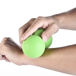 2019 pelotas de goma para gimnasia Caucho Elástico Cacahuete Yoga Masaje Rollos de Bola Volver Terapia de Punto de Disparo Gimnasio Deportes Lanzamiento Muscular Bola de Relajación rebajas pelotas de goma para gimnasia