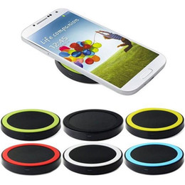 Wholesale Qi Wireless Charger Pad Eu - Mini Qi Wireless Charger USB Charging Pad For iPhone X 8 8P 7 7P Samsung S8 8 Edge S7 7 Edge