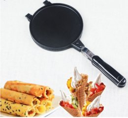 Wholesale waffle cones - Egg &Pancake Rings Gas Waffle Cone Maker Ice Cream Icecream Cones Press Mould Mold Waffle