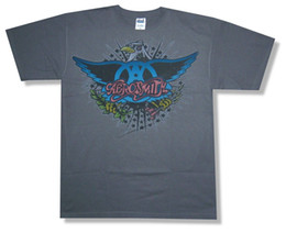 "eagles band Coupons - AEROSMITH ""ROCKIN' EAGLE"" CHARCOAL GREY T-SHIRT NEW OFFICIAL ADULT BAND MUSIC"