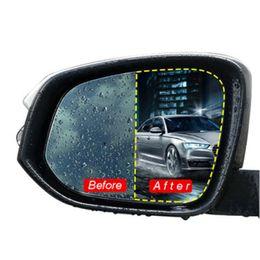 involucro d'aria da 3 metri Sconti 2Pcs Specchietto retrovisore Adesivo Trasparente Car Anti Nebbia Antipioggia Retrovisore Finestra Pellicola protettiva Rivestimento nano