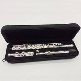 caso cerrado Rebajas Rendimiento profesional Instrumentos musicales YFL-281 Flauta 16 hoyos cerrado Cupronickel C Tone Flauta plateada plata con estuche, paño de limpieza