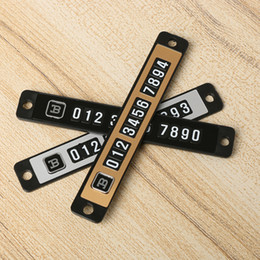 Wholesale Number Plate Stickers - 1SET NEW Magnetic Temporary Car Parking Telephone Number Plate Sticker Sucker Car With A Number Of Paper Sheet