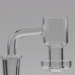 Wholesale Vacuum Oil - New Quartz Terp Vacuum Banger Domeless Terp Slurper Up Oil Banger Nail with 25mm Bucket 30mm Bottom for Glass Bong Oil Rigs