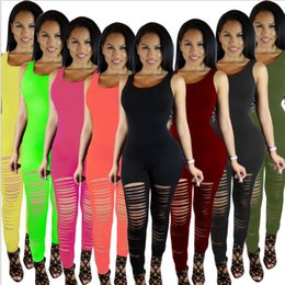 Wholesale Geometric Jumpsuits For Women - women jumpsuit summer sexy Rompers Fitness Leggings Pants Jumpsuit Bodysuit Rompers Long pants suit for womens clothing LJJK862